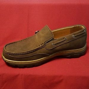 NWT Hawke &Co memory foam brown sz 10.5 loafers